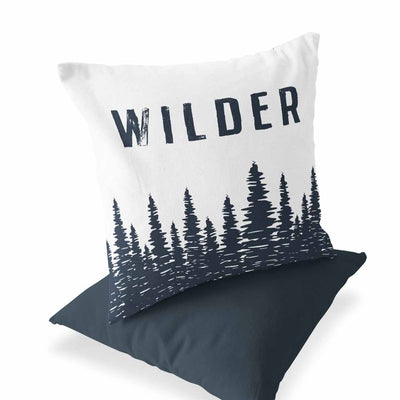 Wilder Forest Custom Name Throw Pillow