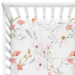 Poppy's Floral Crib Sheet*