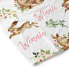 girl woodland personalized blanket