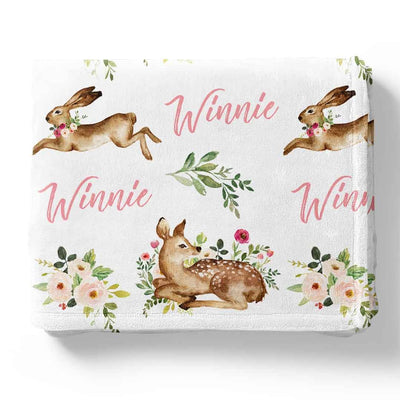 Winnie's Woodland Friends Personalized Toddler Blanket