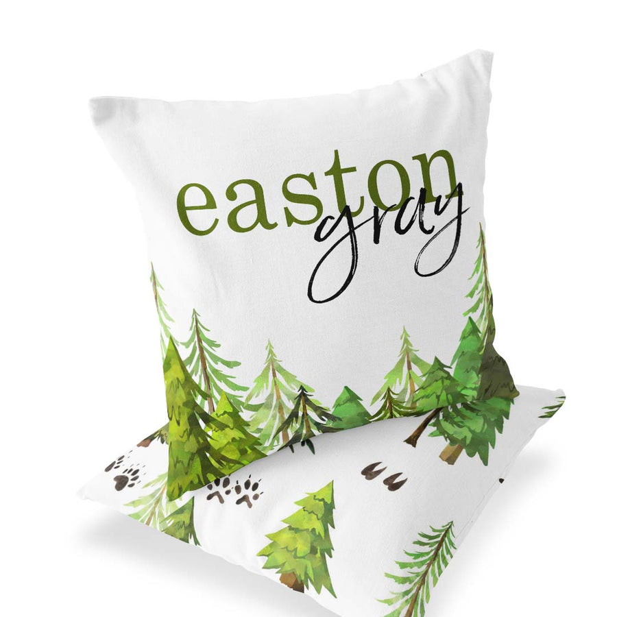 Personalized Name Woodland Tree Accent Pillow