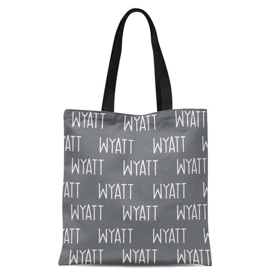 solid slate personalized kids custom name tote bag
