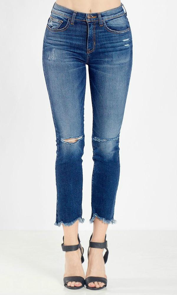 HIGH RISE KICK FLARE DENIM