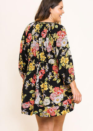 Fancy Floral Dress | Plus