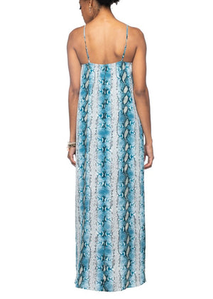 Misha Maxi Dress | Aquamarine
