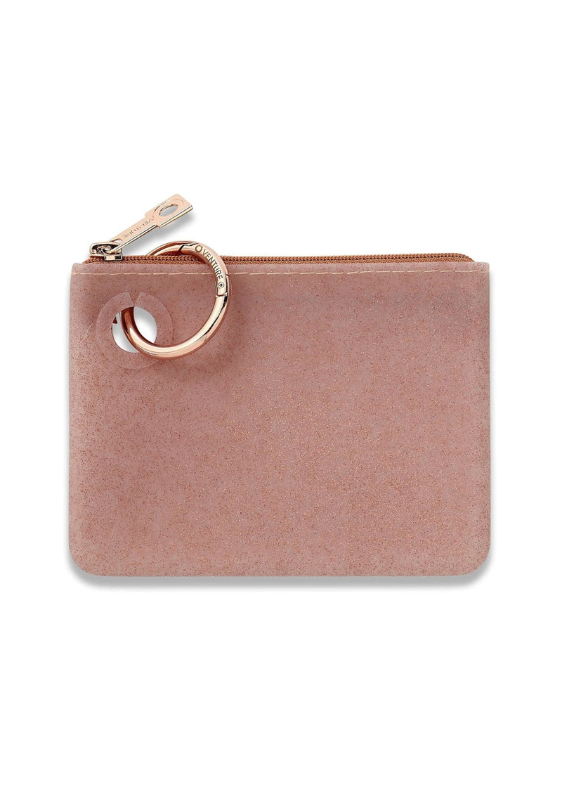 Mini Silicone Pouch | Rose Gold Confetti