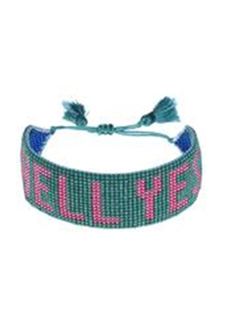 Hell Yes Beaded Bracelet | Green