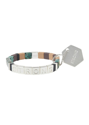 Empower Bracelet | STRONG Silver