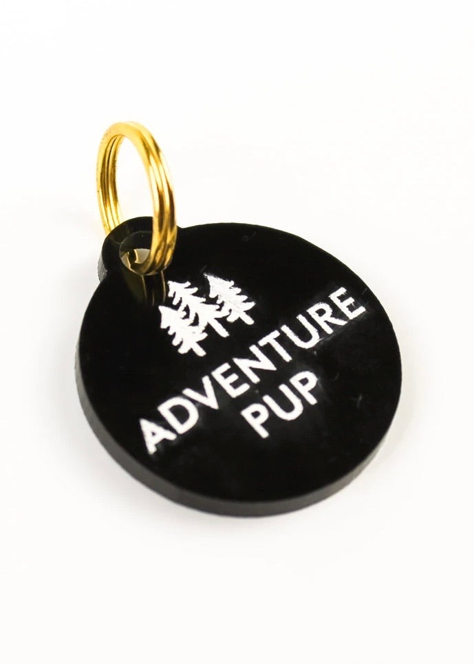 """Adventure Pup"" Acrylic Pet Tag"