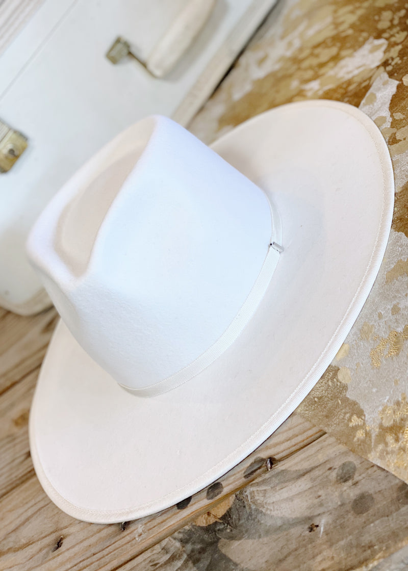 Billie Rancher Hat | White