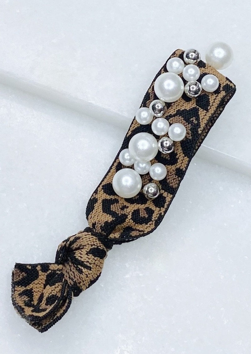 Fancy Leopard Hair Tie