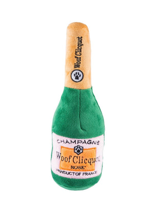 Woof Clicquot Rose' Champagne Bottle