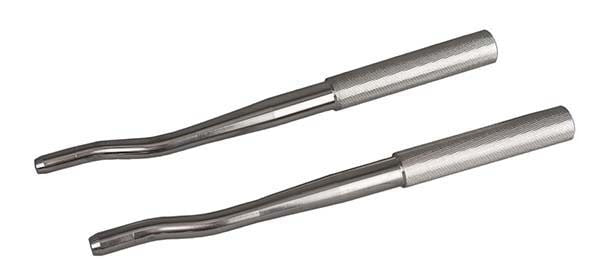 """MS"" Wolf Tooth Elevator Set, 8 mm & 10 mm - Equine Dental Instruments"