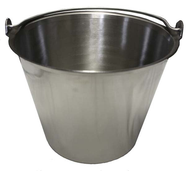 Stainless Steel Pail, Slant Side - Equine Dental Instruments