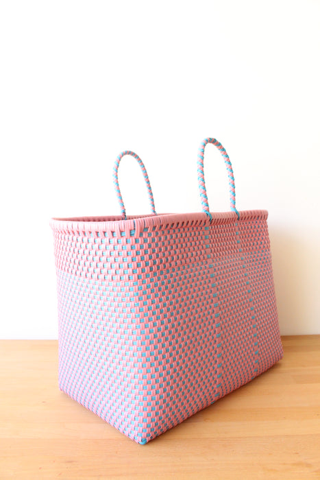 Pink & Blue Mexican Tote Bag