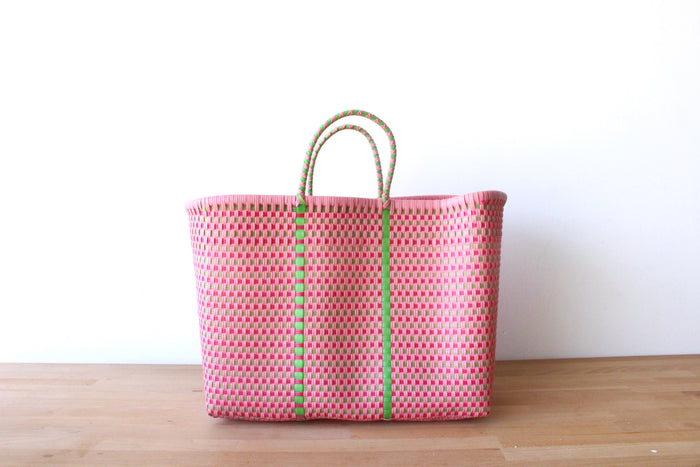 Pink & Green Mexican Tote Bag