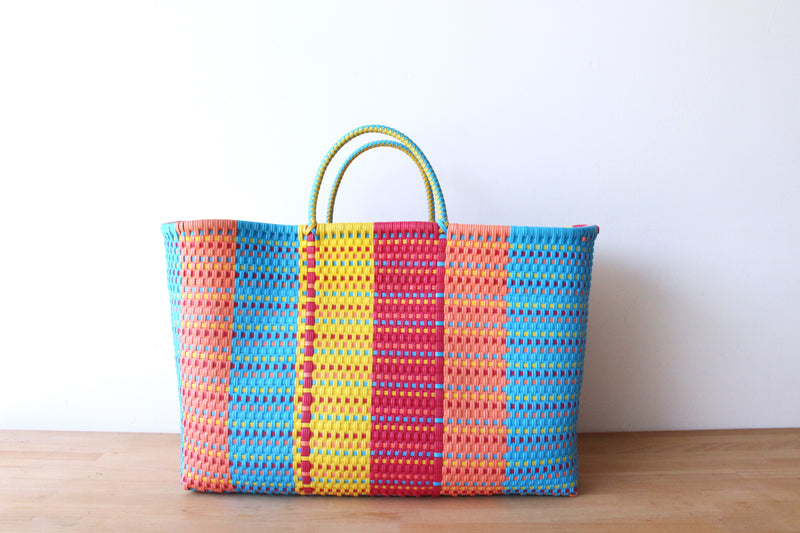 Colorful Mexican Woven Tote Bag