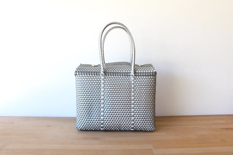Silver & White MexiMexi Handbag