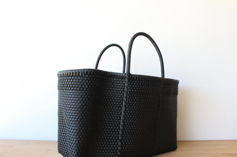 Black Mexican Woven Tote Bag