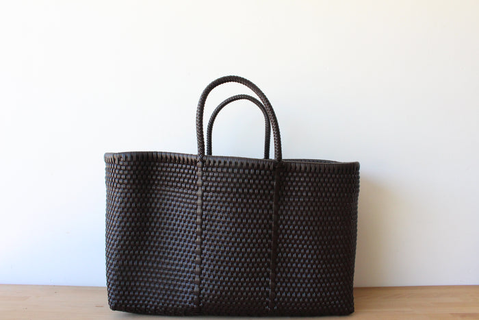 Brown Mexican Woven Tote Bag
