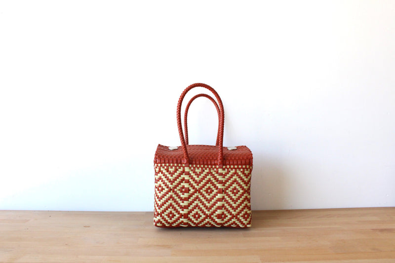 Burnt Orange & Cream MexiMexi Handbag