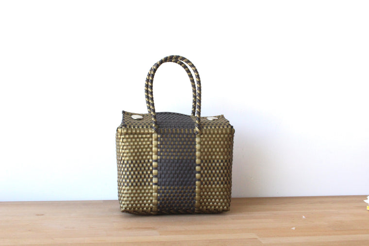 Antique Brown & Gold MexiMexi Handbag