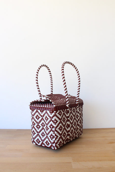 Burgundy & White MexiMexi Handbag