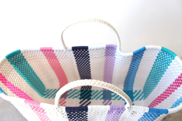 Lady Mexican Woven Tote Bag