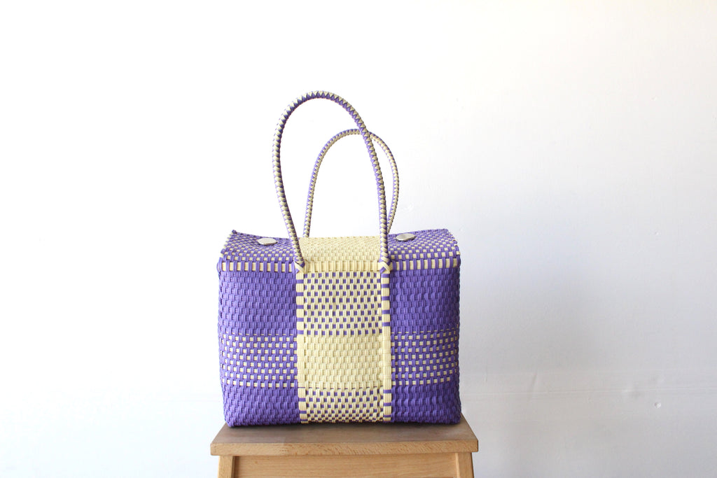 Beige & Purple MexiMexi Handbag