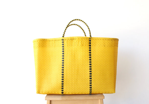 Yellow Mexican Woven Tote Bag - Summer Collection