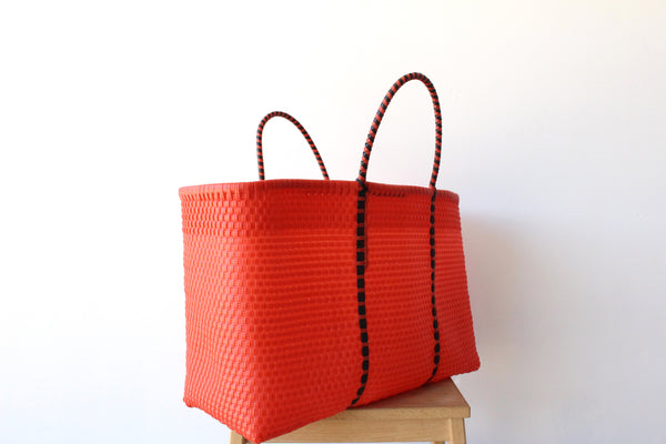 Orange Mexican Woven Tote Bag - Summer Collection