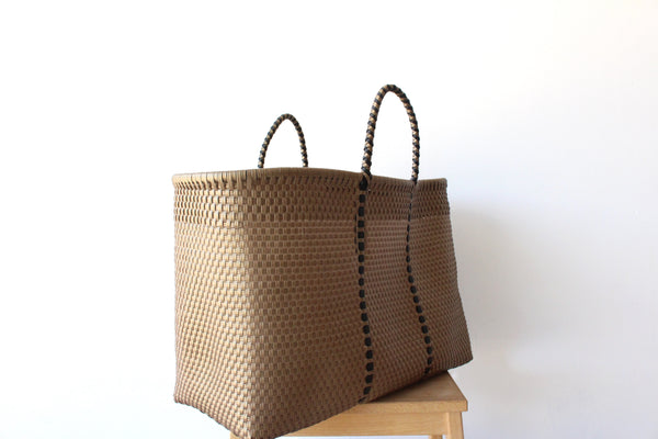Gold Mexican Woven Tote Bag - Summer Collection