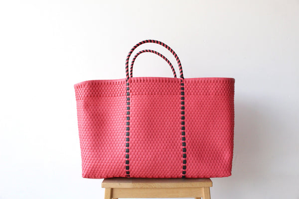 Rose Pink Mexican Woven Tote Bag - Summer Collection