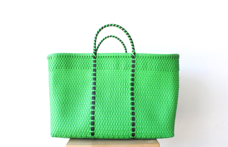 Green Mexican Woven Tote Bag