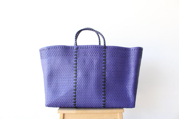 Purple Mexican Woven Tote Bag - Summer Collection