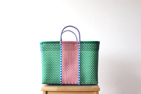 Green, Blue & Pink MexiMexi Tote Bag