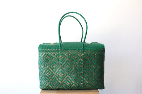 Green & Gold Mexican Basket