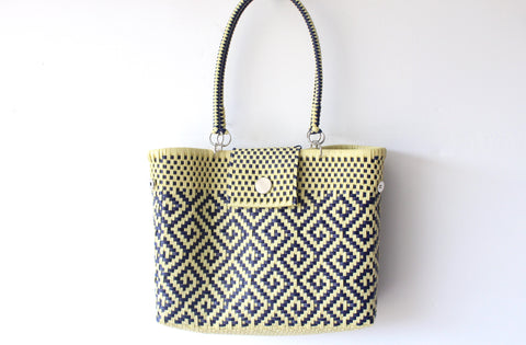 Beige & Blue MexiMexi Purse