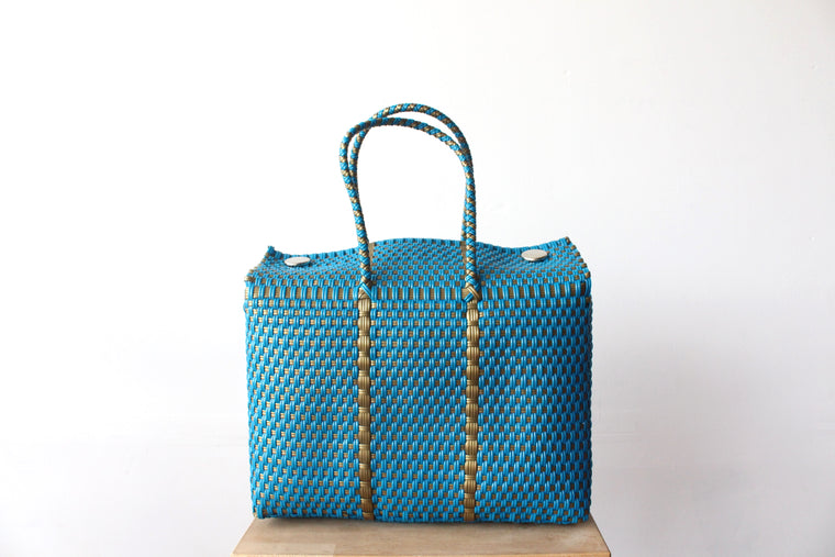 Turquoise & Gold MexiMexi Handbag