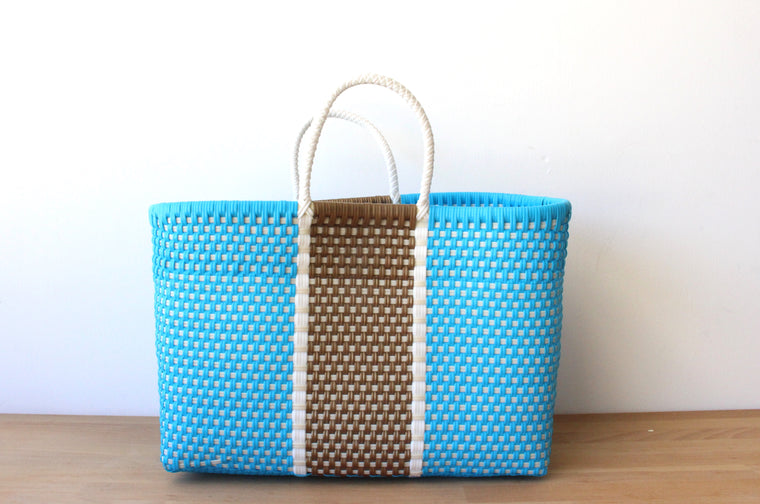 Blue, Gold & White MexiMexi Tote Bag