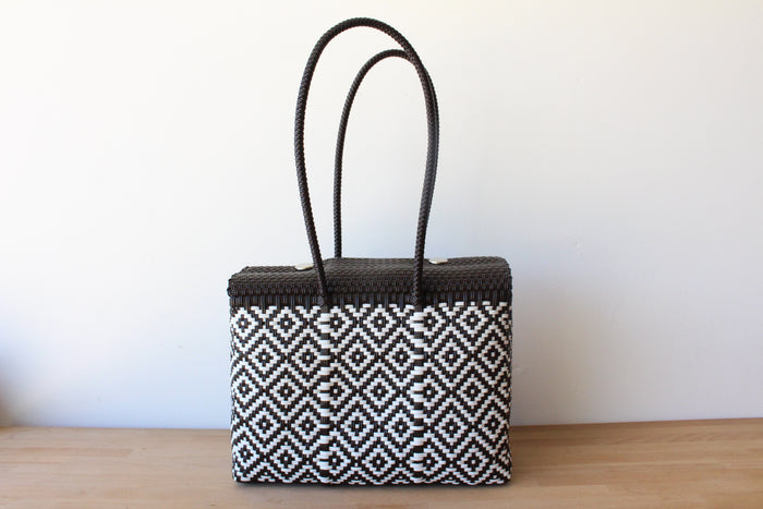 Brown & White MexiMexi Handbag