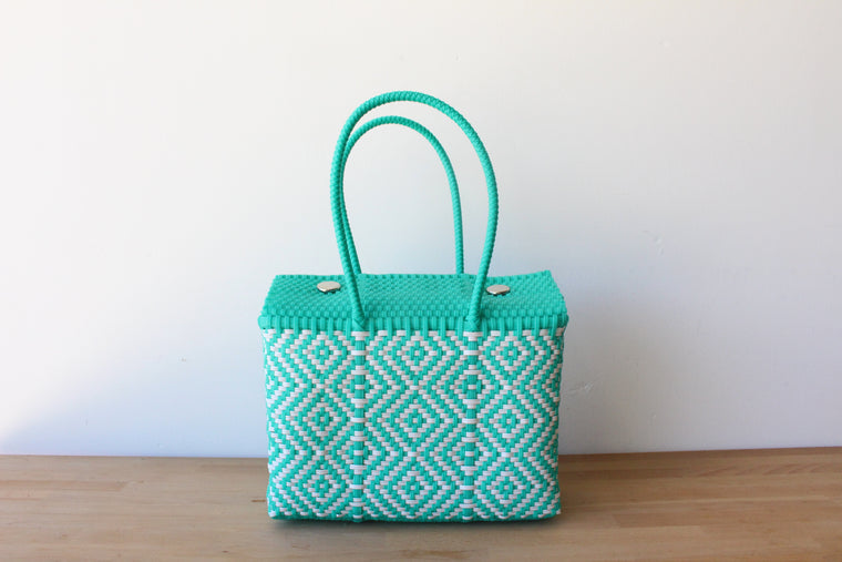 Aqua & White MexiMexi Handbag
