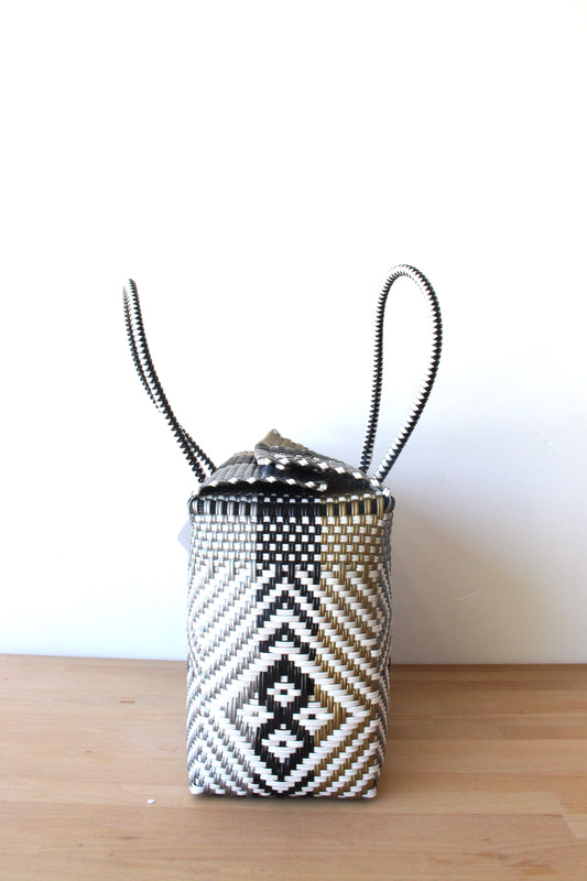 White, Black, Gold  & Silver MexiMexi Basket