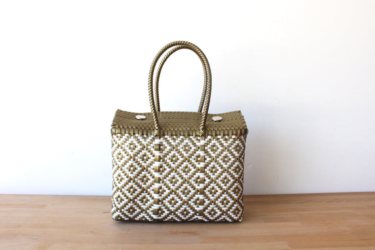 White & Gold MexiMexi Handbag