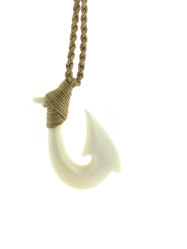 Hawaiian bone hook necklace