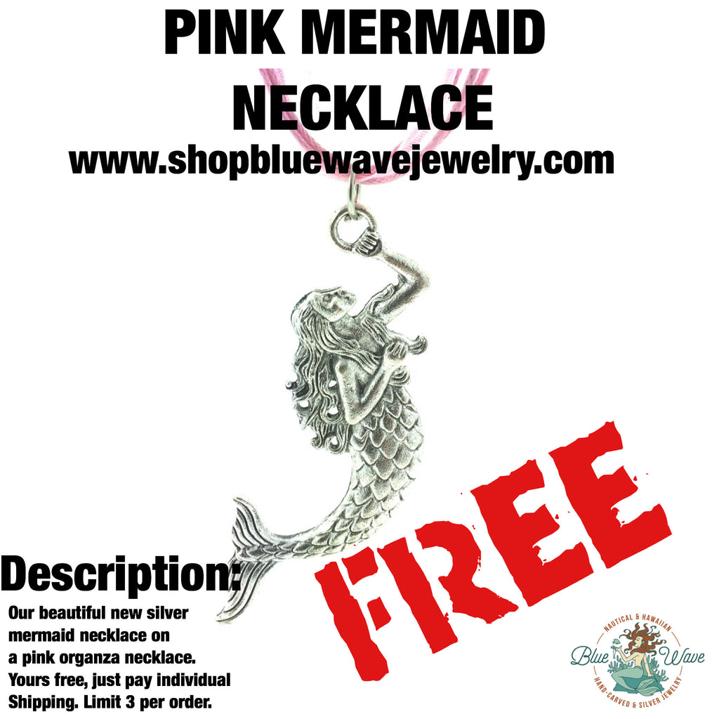 Pink mermaid necklace