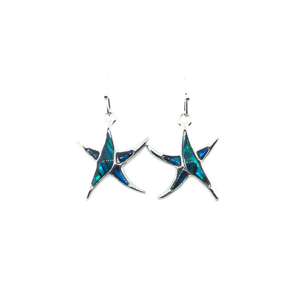Abalone Shell Starfish Earrings
