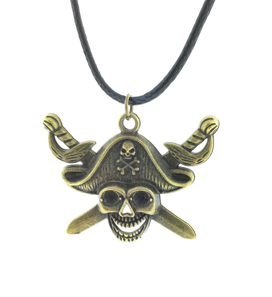 Bronze pirate necklace