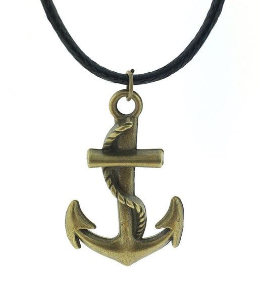 Bronze anchor necklace