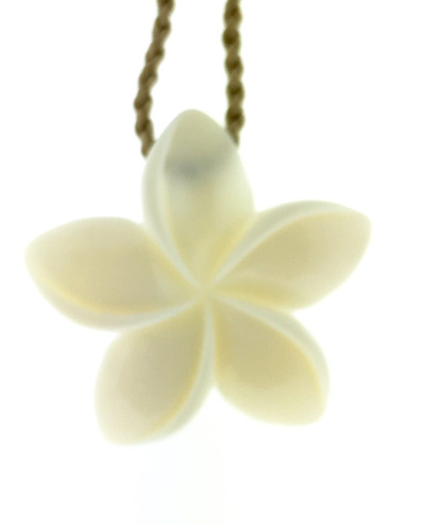 Hawaiian bone plumeria necklace
